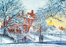 Fresh Snowfall on Beacon Hill Holiday Cards